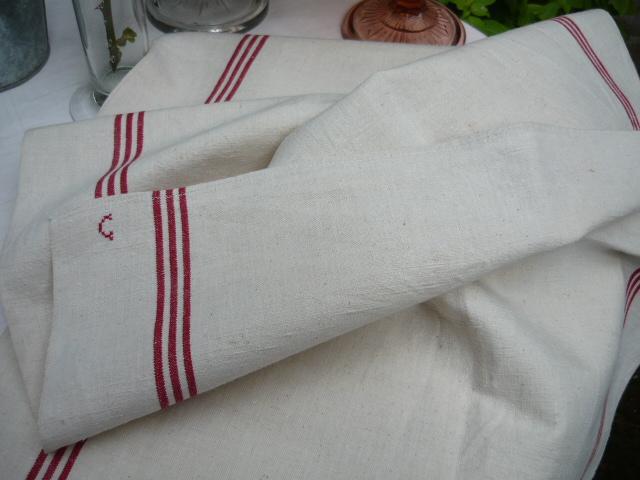 Linge ancien antiquit s mercerie ancienne au souffle d - Torchons et serviettes cuisine ...