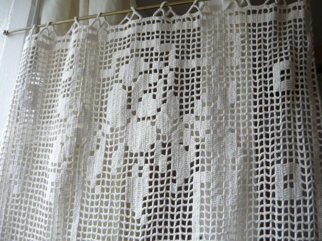 Linge ancien antiquit s mercerie ancienne au souffle d - Crochet a rideau ...